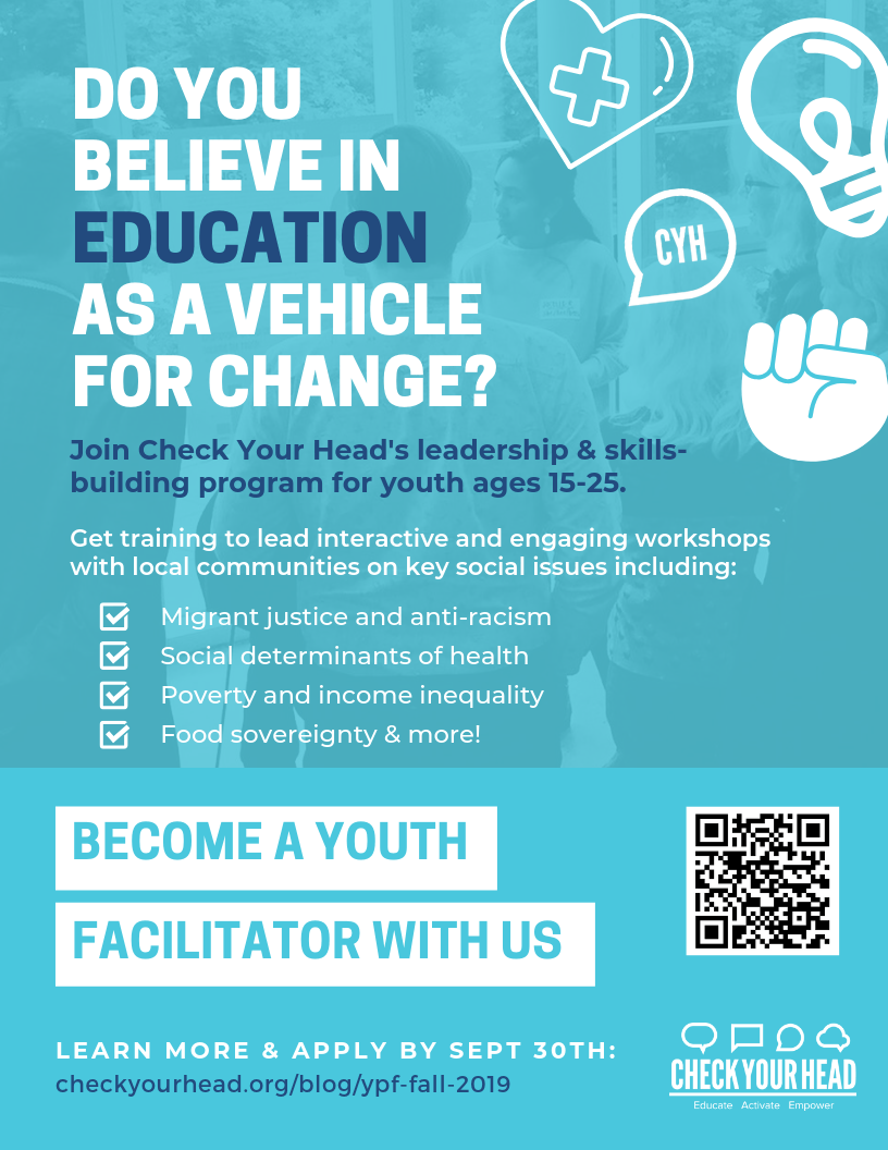 Join our Youth Peer Facilitator team this Fall 2019! – Check